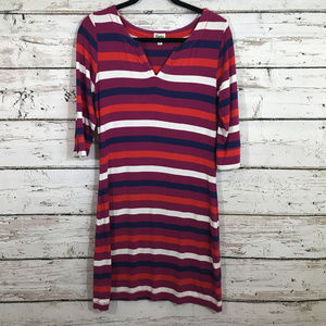 Hatley Striped 3/4 Sleeve Dress